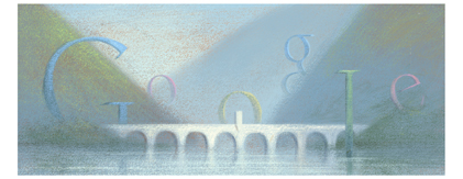 Google Logo: Ivo Andrić's 120th birthday - Yugoslav writer